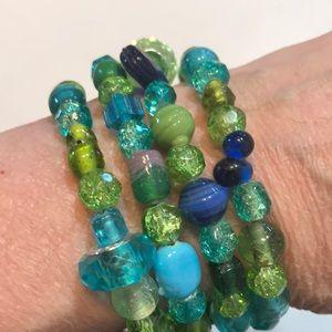 OOAK Ocean Waves Handmade  Bracelet